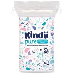 Kindii Pure bawełniane płatki dla niemowląt 60 sztuk
