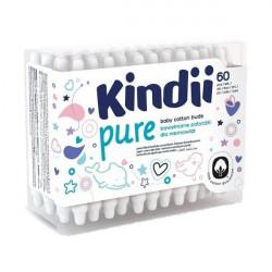 Kindii Pure bawełniane patyczki dla niemowląt 60 sztuk