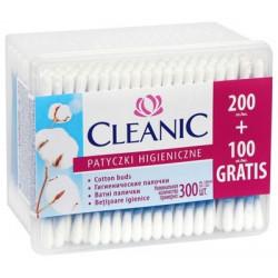Cleanic Patyczki higieniczne bawełniane 300 sztuk