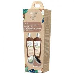 GLYSKINCARE Zestaw z olejem kokosowym Szampon do włosów 250ml + Odżywka do włosów 250ml + Szczotka Diagnosis