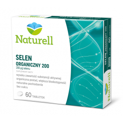 Naturell Selen Organiczny 200 60 tabletek