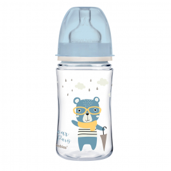 Canpol Babies Butelka szeroka antykolkowa 240ml PP EasyStart BONJOUR PARIS 35/232_blue