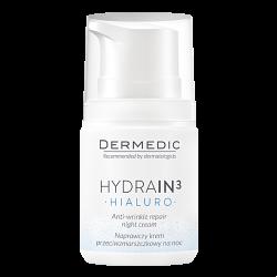 Dermedic Hydrain3 Hialuro Naprawczy krem przeciwzmarszczkowy na noc 55g