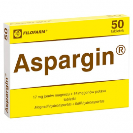 Aspargin 17mg + 54mg 50 tabletek