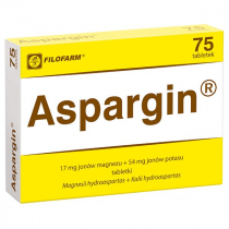 Aspargin 17mg + 54mg 75 tabletek