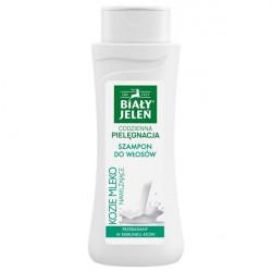 Biały Jeleń Szampon do włosów nawilżający hipoalergiczny kozie mleko 300ml