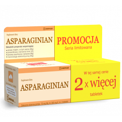 Uniphar Asparaginian Magnezu Potasu 50+50 tabletek