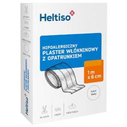 Heltiso Plaster włókninowy z opatrunkiem 1m x 6cm 1 sztuka