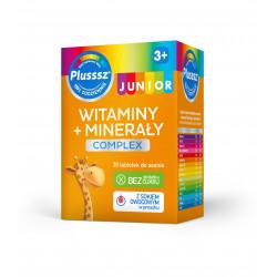 Plusssz Junior Witaminy + Minerały Complex od 3 roku życia 30 tabletek