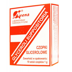 Czopki Glicerolowe 1g 10 sztuk