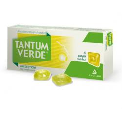 Tantum Verde 3mg Smak cytrynowy 20 pastylek