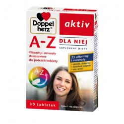 Doppelherz aktiv A-Z Dla Niej Witaminy i minerały dostosowane do  potrzeb kobiet 30 tabletek