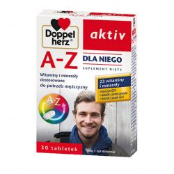 Doppelherz aktiv A-Z Dla Niego Witaminy i minerały dostosowane do potrzeb mężczyzny 30 tabletek