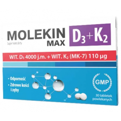 Molekin D3 + K2 Max 30 tabletek