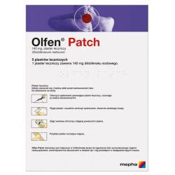 Olfen Patch 140mg 5 plastrów leczniczych