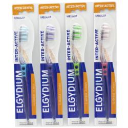 ELGYDIUM Inter-Active Szczoteczka do zębów medium 1 sztuka