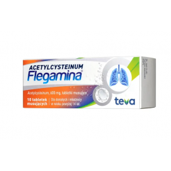 Acetylcysteinum Flegamina 600mg 10 tabletek
