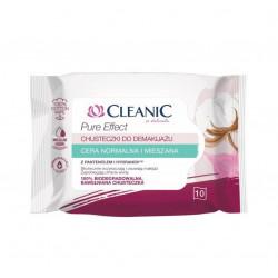 Cleanic Pure Effect Chusteczki do demakijażu Cera normalna i mieszana 10 sztuk
