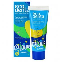 Ecodenta Kolorowa Niespodzianka Pasta do zębów dla dzieci zwalczająca próchnicę  75 ml