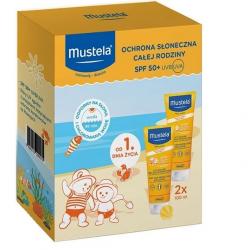 Zestaw Mustela Sun Ochrona słoneczna dla całej rodziny SPF50+ 2x100ml