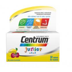 Centrum Junior dla dzieci smak cytrynowo-malinowy 30 tabletek GSK