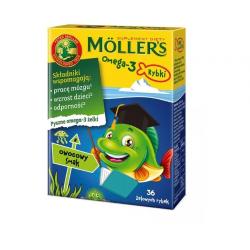 Mollers Omega-3 Rybki Żelki smak owocowy 36 sztuk