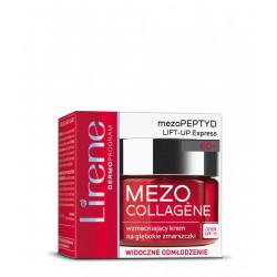 Lirene Mezo Collagene wzmacniający krem na głębokie zmarszczki na dzień 60+ widoczne odmłodzenie 50ml