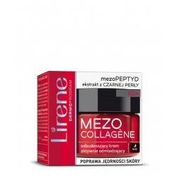 Lirene Mezo Collagene odbudowujący krem aktywnie odmładzający na noc 60+ poprawa jędrności skóry 50ml