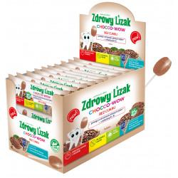 Zdrowy lizak Mniam mniam Chocco-wow kakao z witaminą D3 i K2 40 sztuk