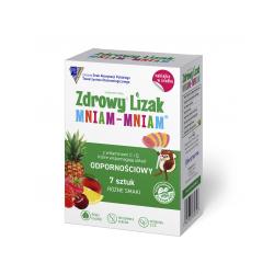 Zdrowy Lizak Mniam-Mniam 7 sztuk lizaków + naklejka