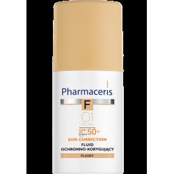 Pharmaceris F Fluid ochronno-korygujący najwyższa ochrona SPF 50+ 01 Ivory 30ml